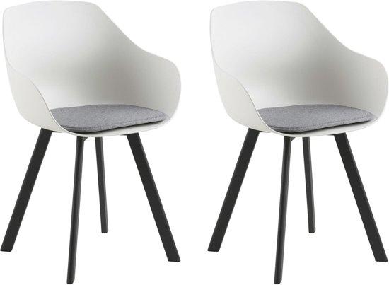 Witte Stoelen Design.Bol Com 24designs Jaylin Stoel Set Van 2 Wit Kunststof