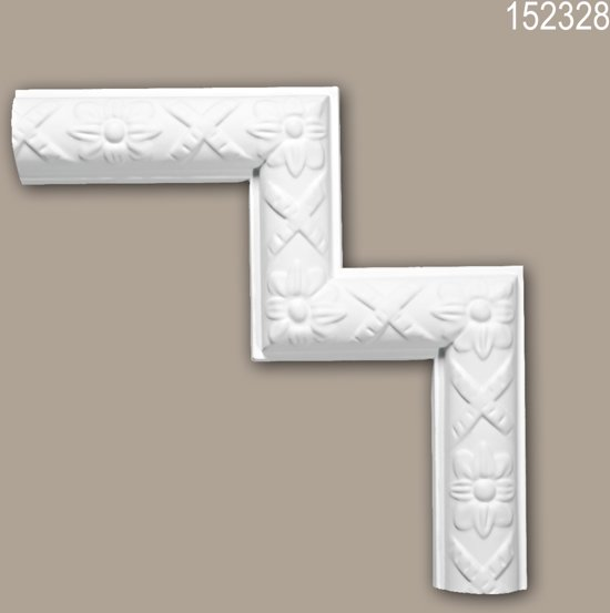 Hoekstuk 152328 Profhome Sierelement tijdeloos klassieke stijl wit