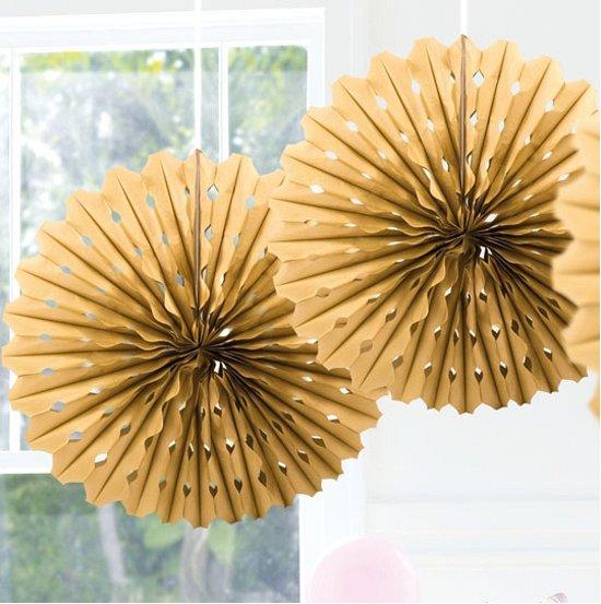 Decoratie waaier goud 45 cm - Decoratie afbeelding ...