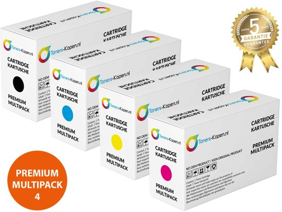 Colori Set 4x Premium Toner voor Hp 507X 507A Pro 500 Color M551Dn