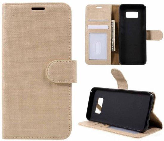 GSMWise - Samsung Galaxy S8 Lychee Textuur Lederen Portemonnee Hoesje met Kaarthouder - Goud
