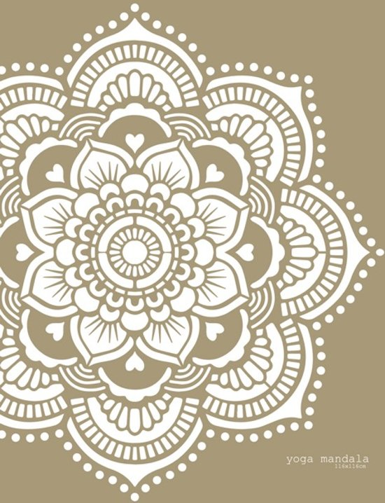 Sjablonen Voor Op De Muur.Mandala Yoga Stencil Sjabloon Kunststof 116 X 116cm Om Je Eigen Mandala Te Schilderen
