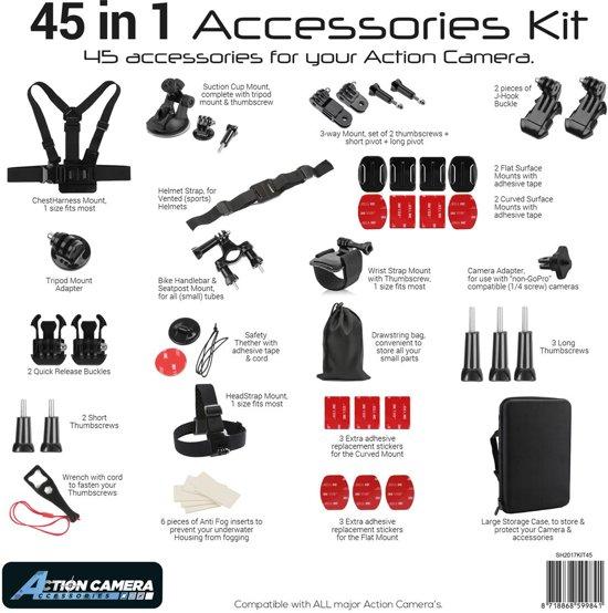 Action Camera 45-in-1-kit Action Cam en accessoire voor GoPro