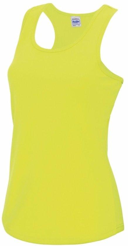 Neon geel sport singlet voor dames M (38) - sport hemdje