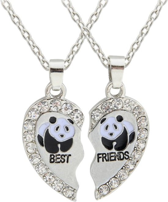 Fako Bijoux® - Vriendschapsketting - Best Friends - Panda