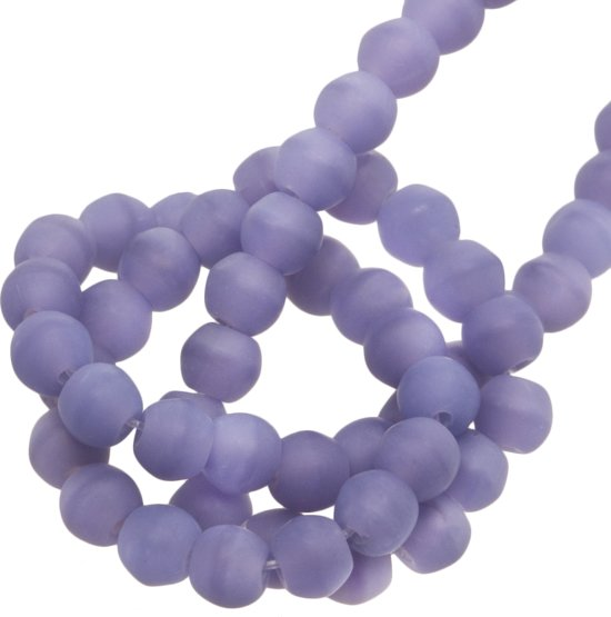 Glaskralen Mat (4 mm) Lavender (100 Stuks)