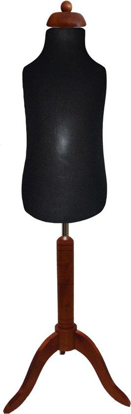 0 -2 jaar zwarte paspop met donker bruine driepoot
