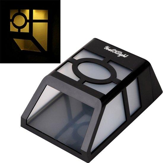 YouOKLight buiten hoogvermogen 0.2W Solar lantaarn licht  2 LED Warm wit licht hek Lamp Solar Wall Light gemonteerd