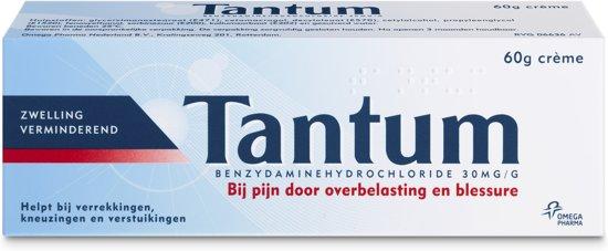 Tantum crème - bij pijn door overbelasting en blessures - zwelling verminderend - 60 gram