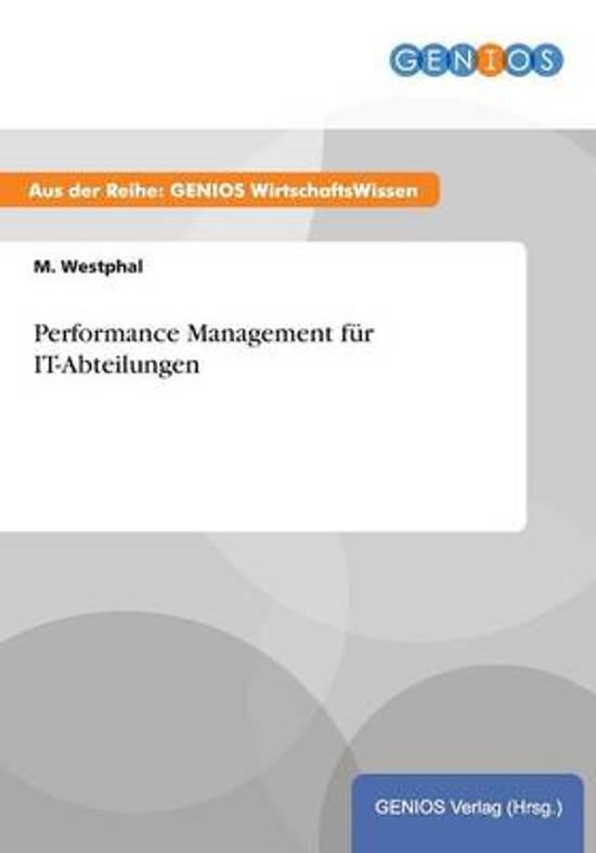 Performance Management F r It-Abteilungen