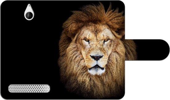 Sony Xperia E1 Uniek Design Hoesje Leeuw in Heide
