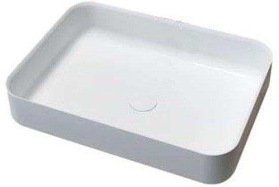 Wastafel Opbouw Rechthoek : Bol waskom opbouw dipsy rechthoek cm solid surface