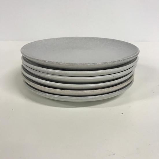Dessertbord lichtgrijs - 6 stuks
