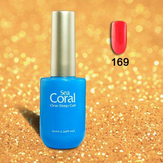 SeaCoral One Step No Wipe Gellak, Gel Nagellak, GelPolish, zónder kleeflaag, UV en LED, kleur 169