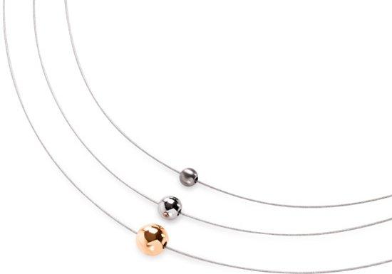 Boccia Titanium 872-01 Collier - Titanium - Bicolor