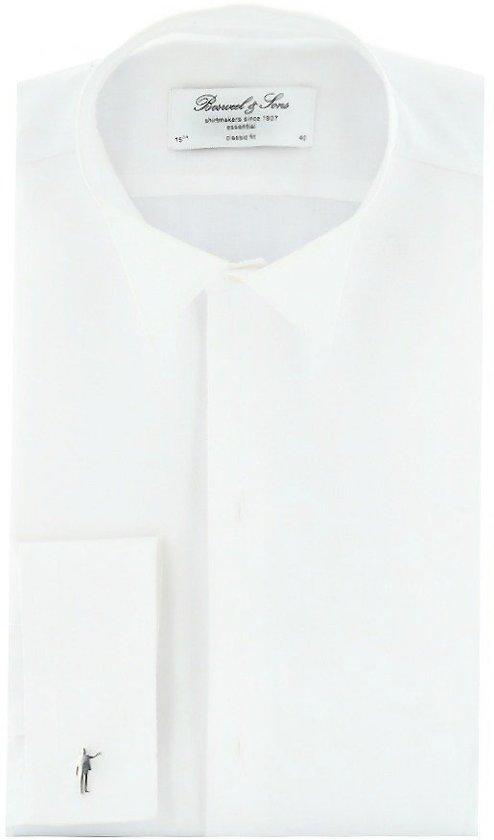 Rokoverhemd Bosweel gesteven, wit, maat 45