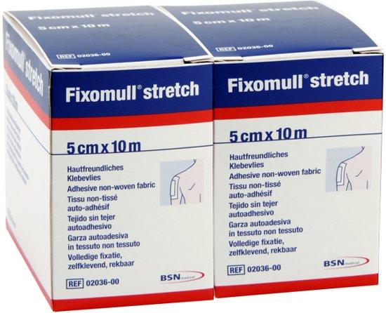 Fixomull stretch (volvlak), 10m x 5cm, per 2 rollen.