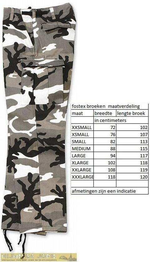 Xs Camo Legerbroek Maat Urban Bdu Fostex xAXSfqPF