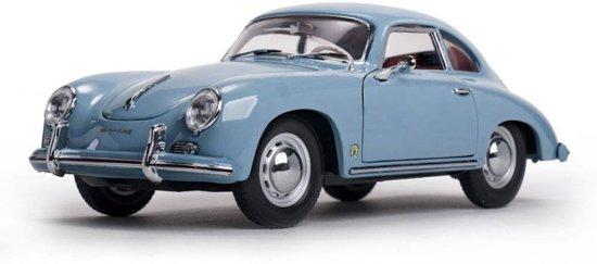 Porsche 356A Coupe 1500 GS Carrera GT 1957 lichtblauw 1-18 Sun Star