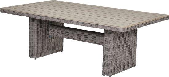 Garden Impressions - Tennessee loungedining table - 180x100 - organic grey