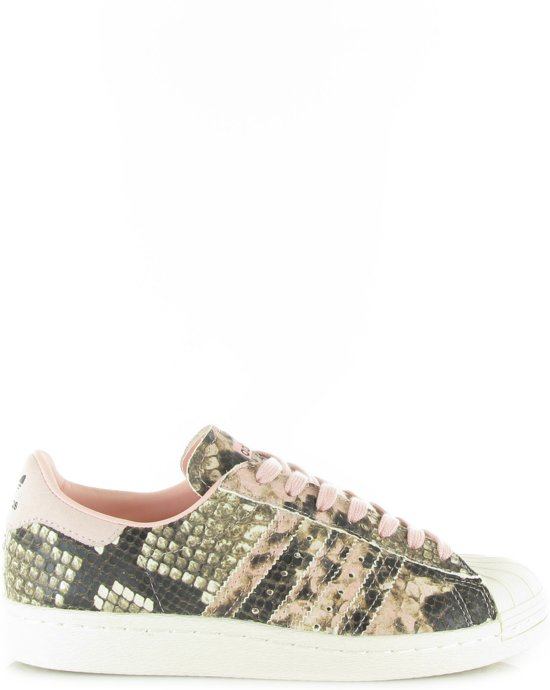 adidas superstar w schoenen roze wit