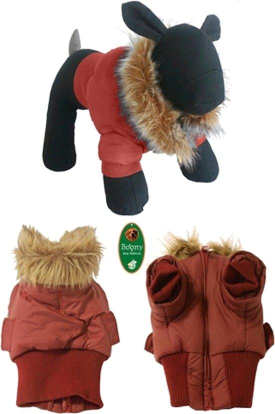 Boony - hondenjas stretcher Met bontkraag rood 24cm