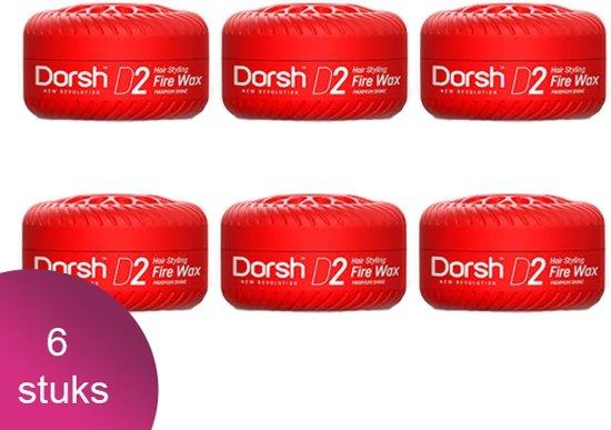 Dorsh Haar Wax D2 Fire Wax Maximum Shine 6 Verpakking - 150ml