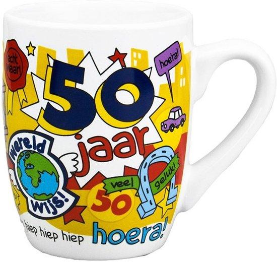 Beroemd bol.com | Cartoon mok 50 jaar man, 123 Kado koffiemokken | Speelgoed #AK41