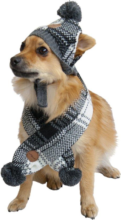 Jack and Vanilla sjaal en muts voor de hond (M)