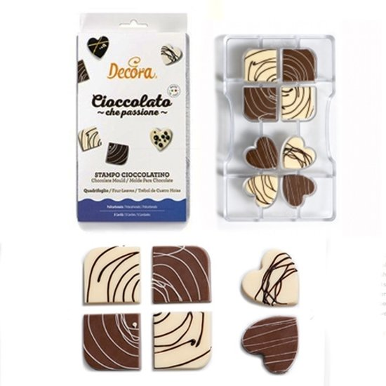 Chocolade mal  Four Leaves - Decora