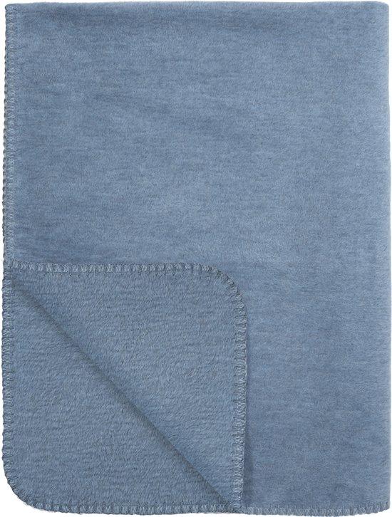 Meyco Basic Uni Wiegdeken - 75x100 cm - Jeans