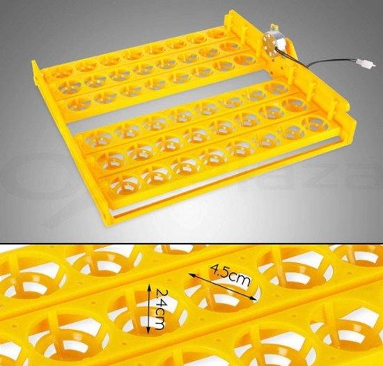 Broedmachine met 4 kijkvensters, voor 48 eieren. DQ48KV.