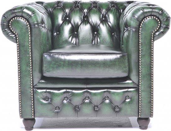 The Original Chesterfield - Brighton - Fauteuil - Zetel Salon - Met arm - Antiek Groen