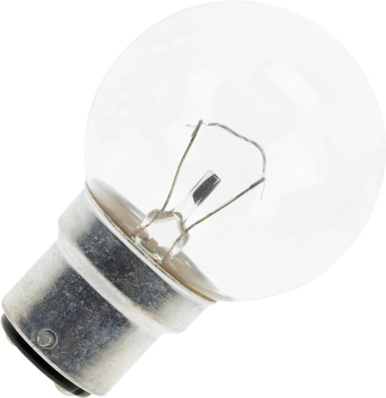 Kogellamp helder 40W bajonet fitting B22d