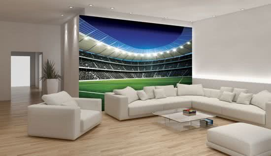 Behang Kinderkamer Voetbal : Bol voetbal stadion corner fotobehang l cm