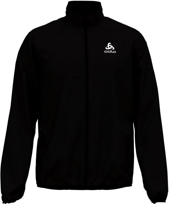 Odlo Jacket Element Light Heren Sportjas - Black - Maat XL