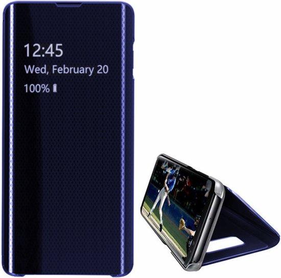Hoesje Flip Cover Clear view  voor Samsung S10 Blauw