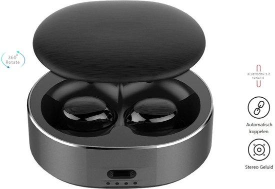 DrPhone GenosX - Truewireless Earbuds - TWS Oordopjes - 15 uur Batterijduur - Geen vertraging in Geluid - Bluetooth 5.0  - Volledig Draadloos / Noise Cancelling Oordoppen - Ultra Compact 5g Earbuds - Eclipse Zwart
