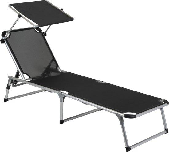 Camp-Gear - Ligbed - Zonnescherm - 5 Standen - 190x61x28 cm