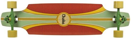 Choke Longboard Tracer Pro Dropthrough Rood/groen