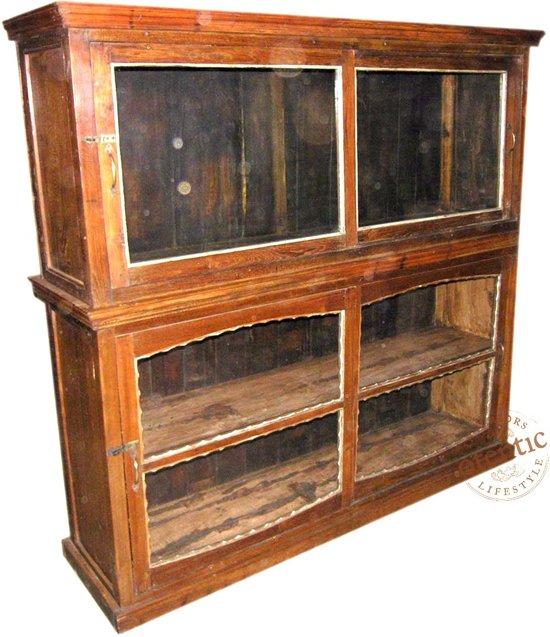 Ongebruikt bol.com   Vintage Vitrinekast India Kast   Otentic Design   Retro PO-91
