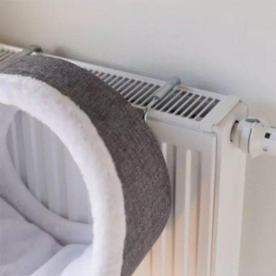 Trixie Radiator Hangmat Iglo - Wit/Grijs 34 x 38 x 38 cm
