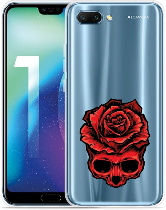 Huawei Honor 10 Hoesje Red Skull