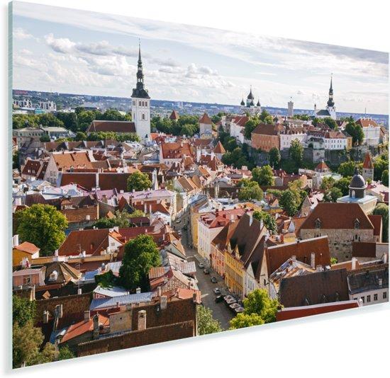 Het Stadshart van Tallinn vanaf een heuvel in Estland Plexiglas 180x120 cm - Foto print op Glas (Plexiglas wanddecoratie) XXL / Groot formaat!