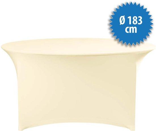 Cover Up Tafelrok Stretch - Ø183cm - Incl. Topcover - Ecru
