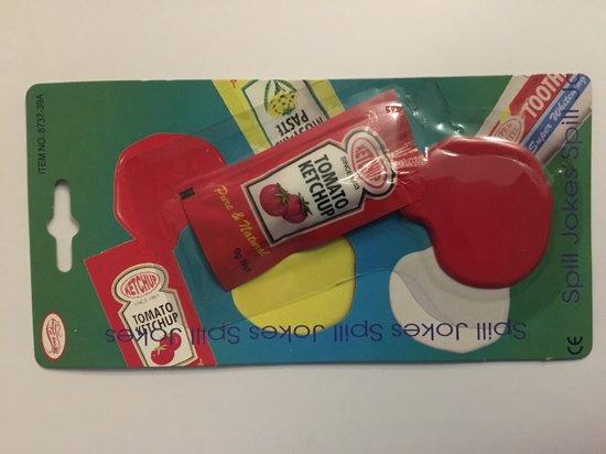 Gemorste ketchup fop artikel