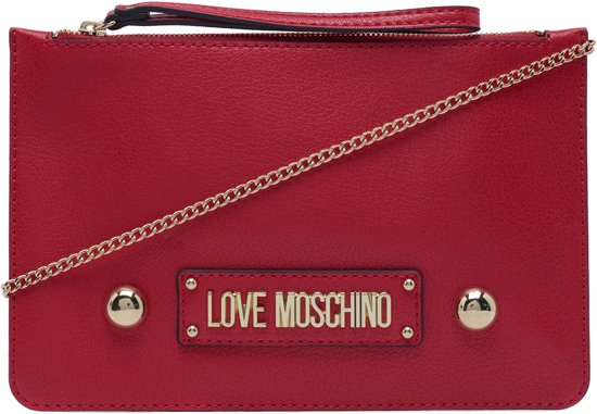 Love Rood Grain Borsa Red Clutch Moschino rwOCq87r