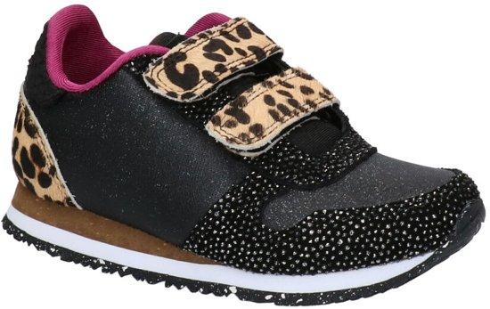 Woden Wonder Zwarte Sneakers  Meisjes 32