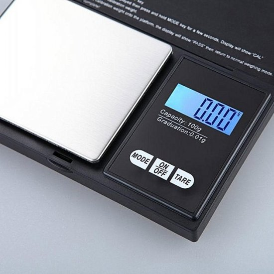 Precisie Weegschaal Keuken - 500g tot 0,01g super naukeurig wegen voor keuken, apotheek, juwelen...