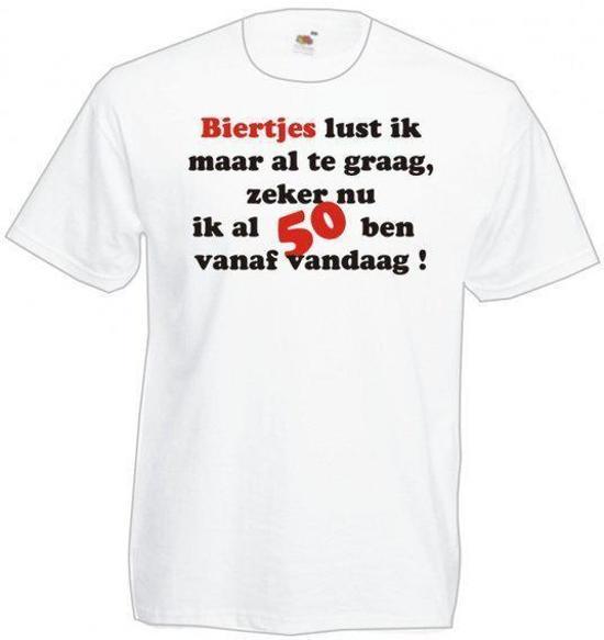 t shirt abraham 50 jaar bol.| Mijncadeautje Heren Abraham T shirt wit maat XL  t shirt abraham 50 jaar